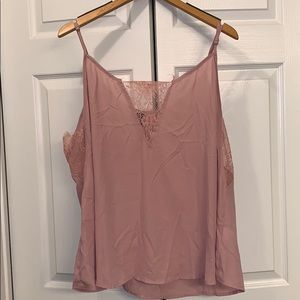 Lacy pink tank